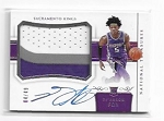 2017-18 National treasures DeAaron Fox Horizontal RPA Patch / Auto Rc /49