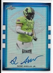 2018 Leaf Army All American Sione Angilau Jr. Blue Refractor Auto /50