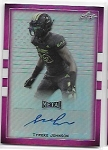 2018 Leaf Army All American Tyreke Johnson Pink Flag Refractor Auto /6
