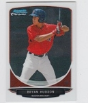 2013 Bowman Chrome Mini Bryan Hudson Card