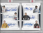 2016 National Treasures Waltrip / Labonte / Busch family 6- auto book /25