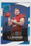 2017 Panini Donruss Football C. J. Beathard Card