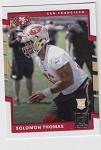 2017 Panini Donruss Football Solomon Thomas Card