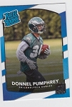 2017 Panini Donruss Football Donnel Pumphrey Card