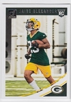2018 Dunruss Rookie Jaire Alexander Card