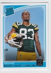 2018 Dunruss Rookie Marquez Valdes-Scantling Card
