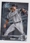 2017 Bowman Chrome Mini Prospect RC Michael Kopech Card
