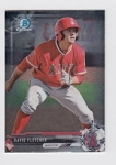 2017 Bowman Chrome Mini Prospect RC David Fletcher Card