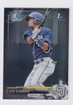 2017 Bowman Chrome Mini Prospect RC Luis Almanzar Card