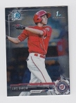 2017 Bowman Chrome Mini Prospect RC Luis Garcia Card