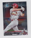 2017 Bowman Chrome Mini Prospect RC Harrison Bader Card
