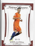 2018 National Treasures Robin Van Persie Gold parallel card /25