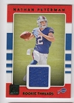 2017 Donruss Nathan Peterman Green parallel Rookie JERSEY rc
