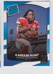 2017 Panini Donruss Kareem Hunt Rated Rookie rc