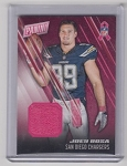 2016 Panini Day Joey Bosa rookie Breast cancer awareness wrist band patch rc