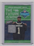 2018 Panini National Marcus Davenport Rookie Shimmer refractor draft day worn hat rc /49