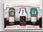 2018 Leaf in the game used Glenn Robinson / Jason Kidd / Grant Hill triple Game used Jersey /12