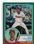 2018 Topps chrome Nick Williams 1983 throwback Green refractor rc /99