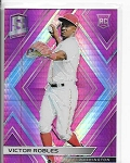 2018 Panini Spectra Victor Robles rookie Pink Refractor rc /75