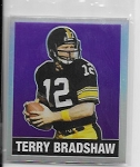 2018 Leaf National Terry Bradshaw 1948 throwback Purple refractor /15