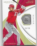 2018 Panini Immaculate Shohei Ohtani rookie Button Relic rc /10