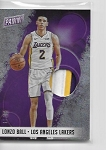 2108 Panini National vip Lonzo Ball Shimmer refractor 3 color Patch 15/15