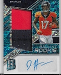 2018 Panini Spectra Daeshean Hamilton Rookie blue refractor 2 color patch / auto rc /99