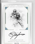 2017 National Treasures collegiate Lawrence Taylor Notable nicknames Auto /25