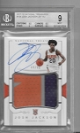 2017-18 National Treasures Josh Jackson RPA 3 color Patch / auto rc /99 BGS 9 mint 9 auto