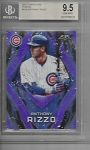 2017 Topps fire Anthony Rizzo Purple parallel /99 BGS 9.5 GEM Mint