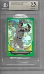 2013 Bowman Chrome Mini edition Austin Meadows Prospect Green Refractor /75 BGS 9.5 GEM MINT
