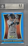 2013 Panini USA select Preview Mickey Moniak USA blue refractor /199 BGS 9.5 GEM MINT