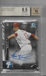 2016 Bowman Chrome Aaron Nola Rookie Auto rc BGS 9.5 GEM MINT