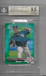 2017 Bowman Chrome mini Edition Justus Sheffield prospect Green Refractor /99 BGS 9.5 GEM MINT