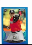 2013 Bowman Chrome Mini Edition Jose Fernandez rookie BLUE Refractor /99