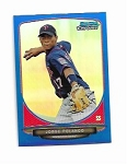 2013 Bowman Chrome Mini Edition Jorge Polanco prospect  BLUE Refractor /99