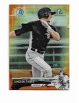 2017 Bowman Chrome Mini Edition Jameson Fisher prospect ORANGE Refractor /25