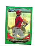 2013 Bowman Chrome Mini Edition Michael Taylor prospect GREEN  Refractor /75