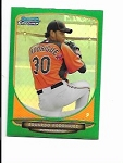 2013 Bowman Chrome mini edition Eduardo Rodriguez prospect GREEN refractor /75