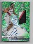 2017-18 Spectra Caleb Swanigan Green Refractor 3 color Patch / auto rc /49