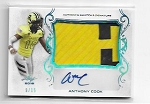 2018 Leaf Army All American Anthony Cook 2 color Patch / auto /15