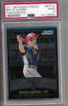2011 Bowman Chrome Bryce Harper Prospect Throwback rc PSA 9 Mint