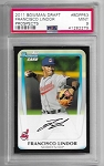 2011 Bowman Draft Francisco Lindor prospect rc PSA 9 MINT