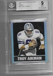 2018 Leaf Originals Troy Aikman 1948 Throwback Black Refractor /7 BGS 9 Mint