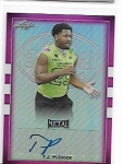 2018 Leaf Army All American T.J. Pledger Pink Refractor Auto /15