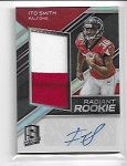 2018 Panini Spectra ITO Smith Rookie 2 color Patch / Auto rc /249