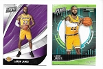 2-Lebron James Promo card lot in lakers uniform. 2018 national/2018 Fathers day