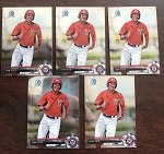 2017 Bowman Chrome Mini Juan Soto Prospect 5 Card Lot