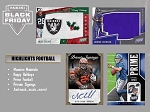 10- Pack lot   2019 Panini  black friday Football packs 1 THICK pack / 9 THIN packs.  SHIPPED SEALED