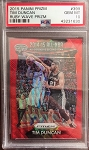 2015 Panini Prizm Ruby Wave Refractor Tim Duncan 2014-15 All-NBA /350 PSA 10 Gem Mint
